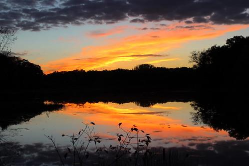 sunset baldeaglelake