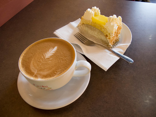 Latte and Lemon Cake at Belle Pastry   by keith_and_kasia