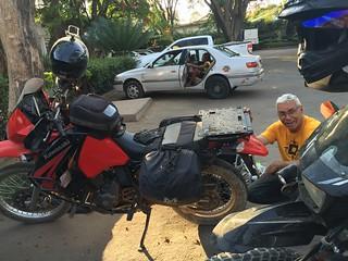 Rest and repairs in Dodoma, Tanzania.