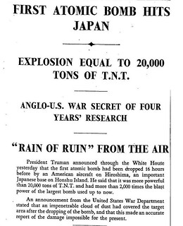 6th August 1945 - Atomic Bomb dropped  on Hiroshima, Japan | by Bradford Timeline