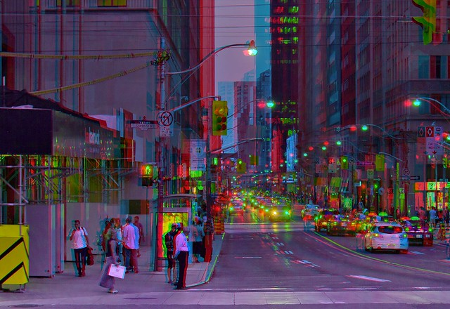 Blue Hour in Toronto 3-D ::: HDR/Raw Anaglyph Stereoscopy