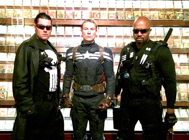 Captain America, The Punisher, Blade