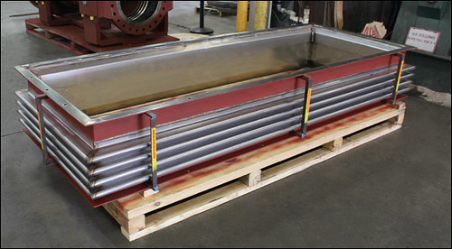"8'-1/2"" Long Rectangular Metallic Expansion Joint Designed with Mitered Corners for a Gas Turbine"