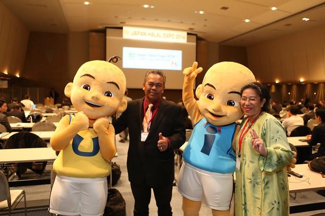 Upin & Ipin Dilantik Duta Japan Halal Expo 2014