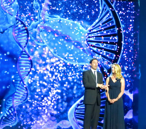 Jon Hamm and Laurene Powell Jobs | by jurvetson