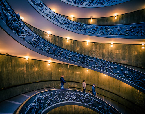 city travel italy holiday vatican rome roma museum stairs spiral italian nikon wide staircase exit d800 1424