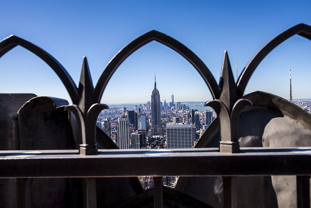 Special View to the Empire State Building from the Rock - New York City
