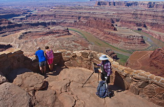 Susi Painting at Dead Horse Point | by Dave Bezaire