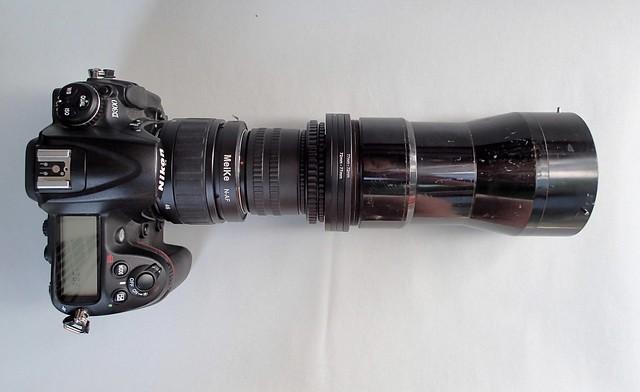 Nikon D300 with Rokuoh Sha TeleHexar 40cm  (ex SK-100) sn # 3661 nº 3