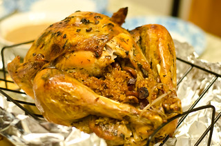 thanksgiving turkey with sticky rice stuffing | by hey tiffany!