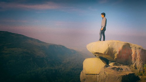 Standing on the edge of the cliff | by abhishekmaji