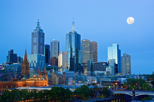 moon australia melbourne moonlight vic