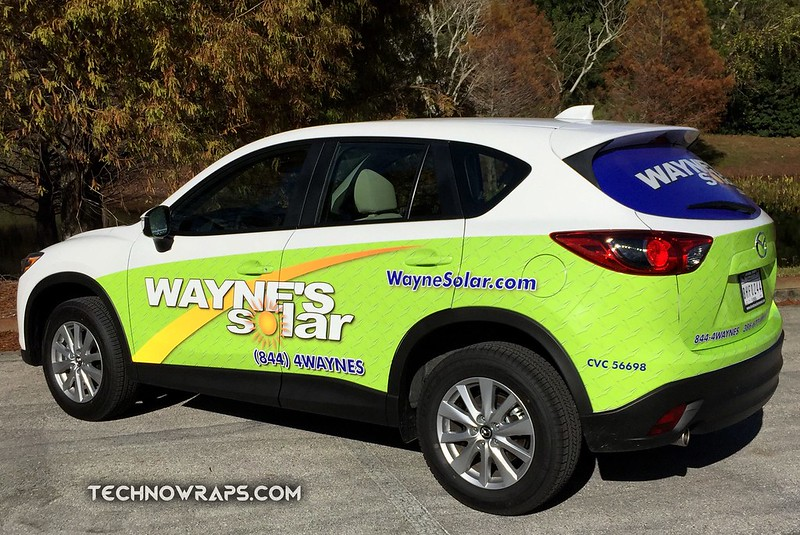 Mazda vehicle wrap by TechnoSigns in Orlando