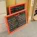 Restaurant chalk boards