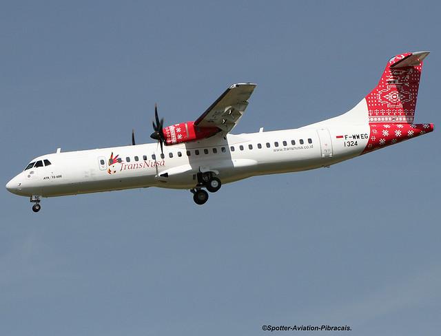 TransNusa Aviation Mandiri. First ATR 72 Company.