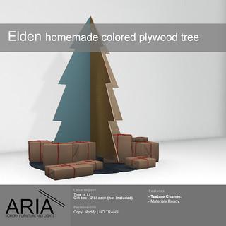 Elden colored plywood tree