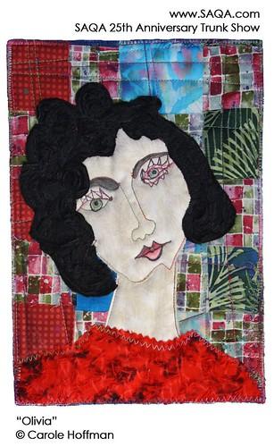 Art quilt by Carole Hoffman | by saqaart