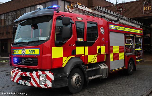 Limerick City Fire & Rescue Service / LI 11 A2 / 12 L 686 / Volvo FLL / WrL