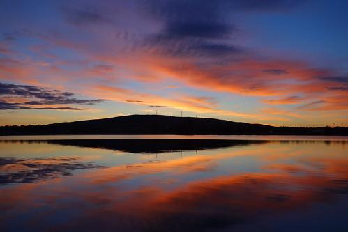 sunset summer sky cloud lake water june night landscape colours midsummer sweden dusk shore colourful waterscape