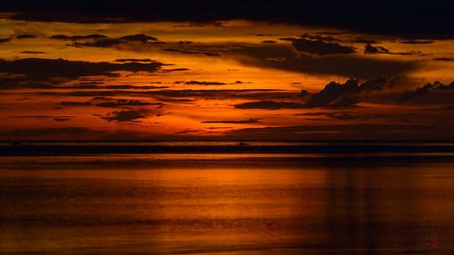 ocean sunset red orange phl philippinen negrosoccidental sipalay