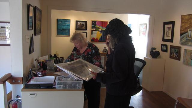 IMG_7349 Ginger Cez Carpinteria Art Center portal show