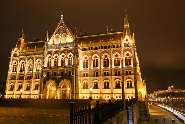Budapest - north side of the hungarian Parliament at night