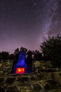 Camp Hual-Cu-Cuish fireplace remains