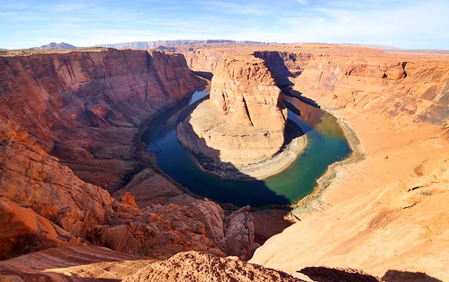 new travel arizona sky water landscape countryside bright outdoor horseshoebend