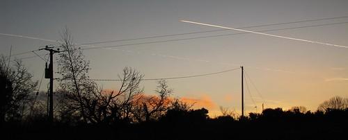 ireland sunset sky irish silhouette clouds garden countryside scenery contrail view cork telegraphpole newmarket htt canong11 ilobsterit telegraphtuesday