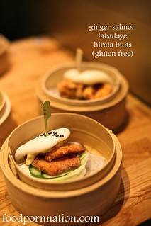 ginger salmon tatsutage hirata buns gluten free | by Priscilla @ Food Porn Nation