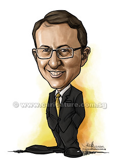 digital caricature for Ernst & Young (watermarked) | by jit@portraitworkshop.com