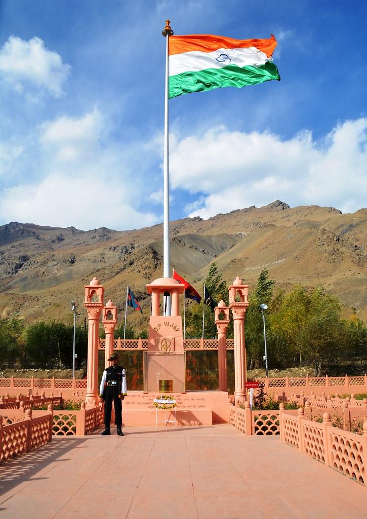 Kargil War Memorial with Tololing Ranges in Background   K