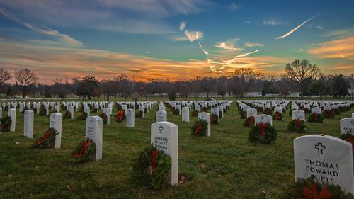 Wreaths Across America Sunset at Arlington National Cemetery   by joseph.gruber