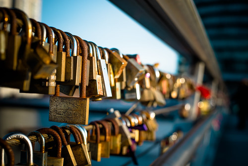 Padlocks of love, Bryggebroen, Copenhagen | by Agent Smith