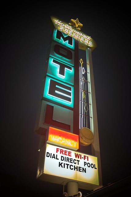 Motel at Night,  Los Angeles, Caliornia