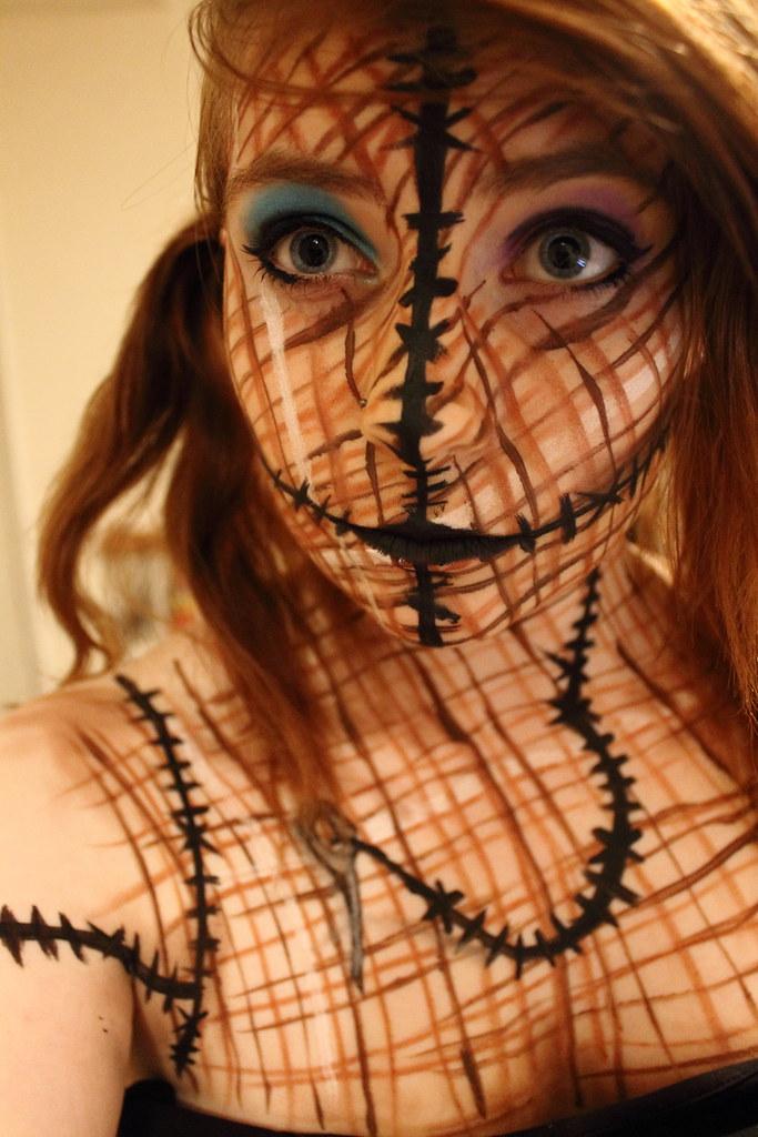 ... Hallowe'en Voodoo Doll Makeup | by PinziPie