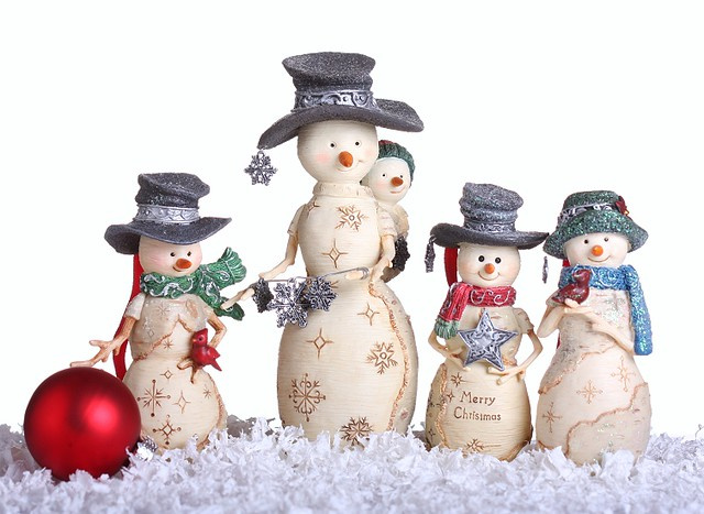 Birch Hearts Snowmen