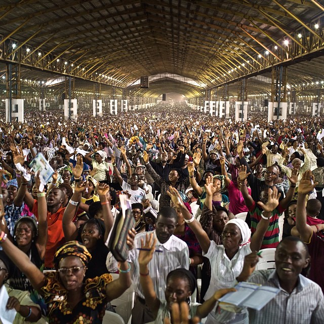 Photo by @hammond_robin for @natgeo as many as 300,000 people attend The Redeemed Christian Church of God Annual Convention in Lagos, Nigeria. Read about The Man of God, Bibles and iPads, private jets, and find out if the Holy Spirit was revealed to me, o