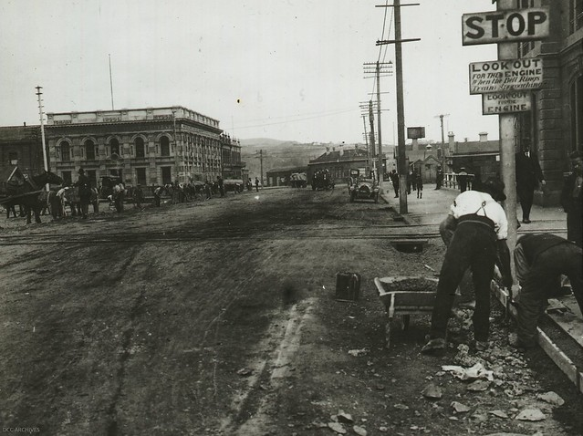 Rattray Street - during construction work