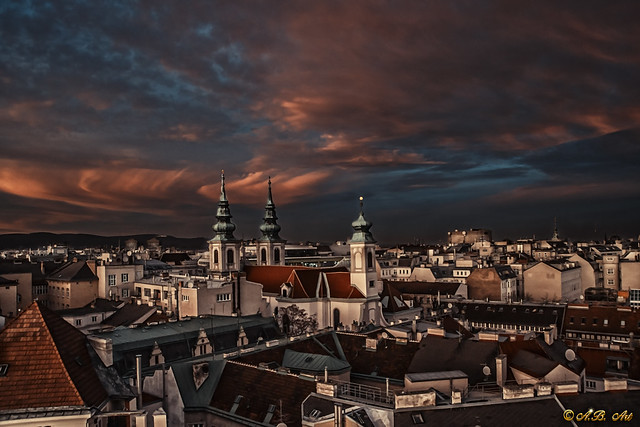 Colorful clouds over Vienna