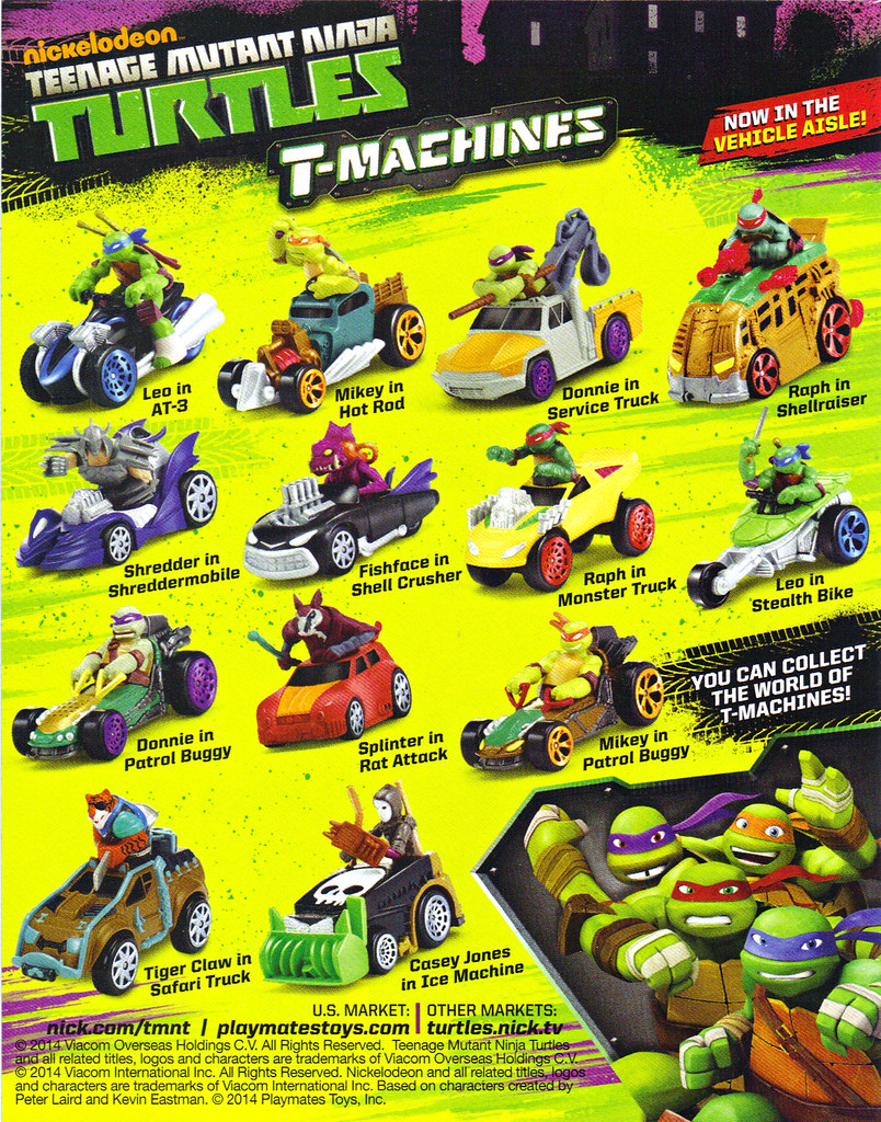 "Nickelodeon  TEENAGE MUTANT NINJA TURTLES :: ""T-MACHINES; 'YOU CAN COLLECT THE WORLD - -""  (( 2014 )) by tOkKa"