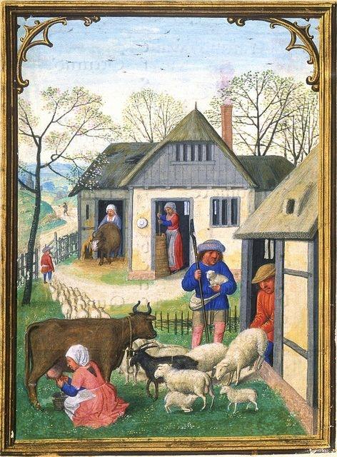 April - Driving out the sheep & the cattle by petrus.agricola