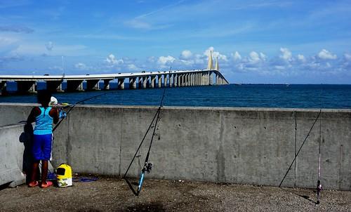 Sunshine Skyway Fishing Pier - North, St. Petersburg, Fla., June 18, 2016   by JenniferHuber