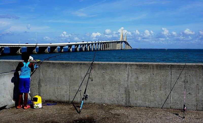 Sunshine Skyway Fishing Pier - North, St. Petersburg, Fla., June 18, 2016