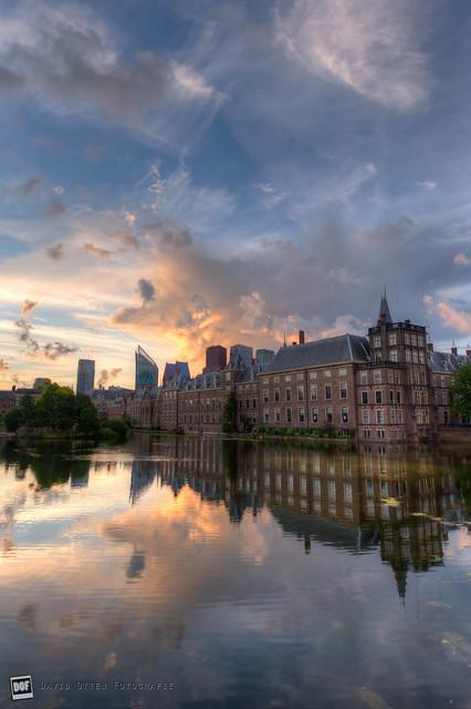 Dawn at the Hofvijver, The Hague HDR