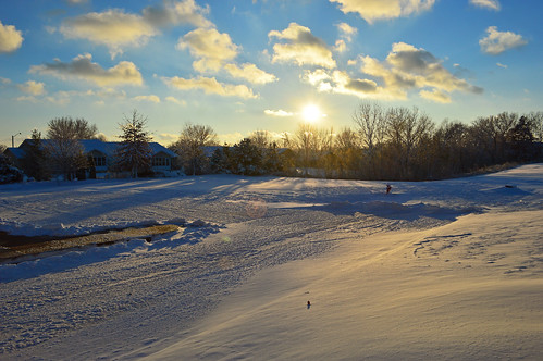 road winter sky snow sunrise landscape illinois outdoor serene peoria candlewoodsuites