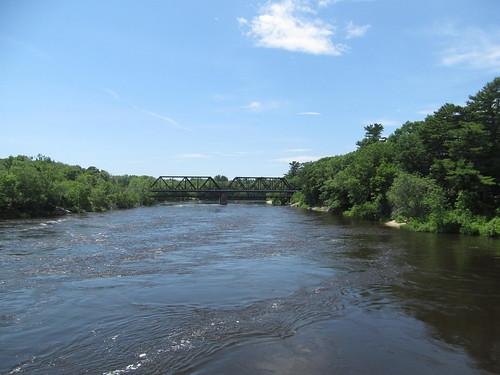 Androscoggin River Swinging Bridge - Brunswick, Maine | by Dougtone