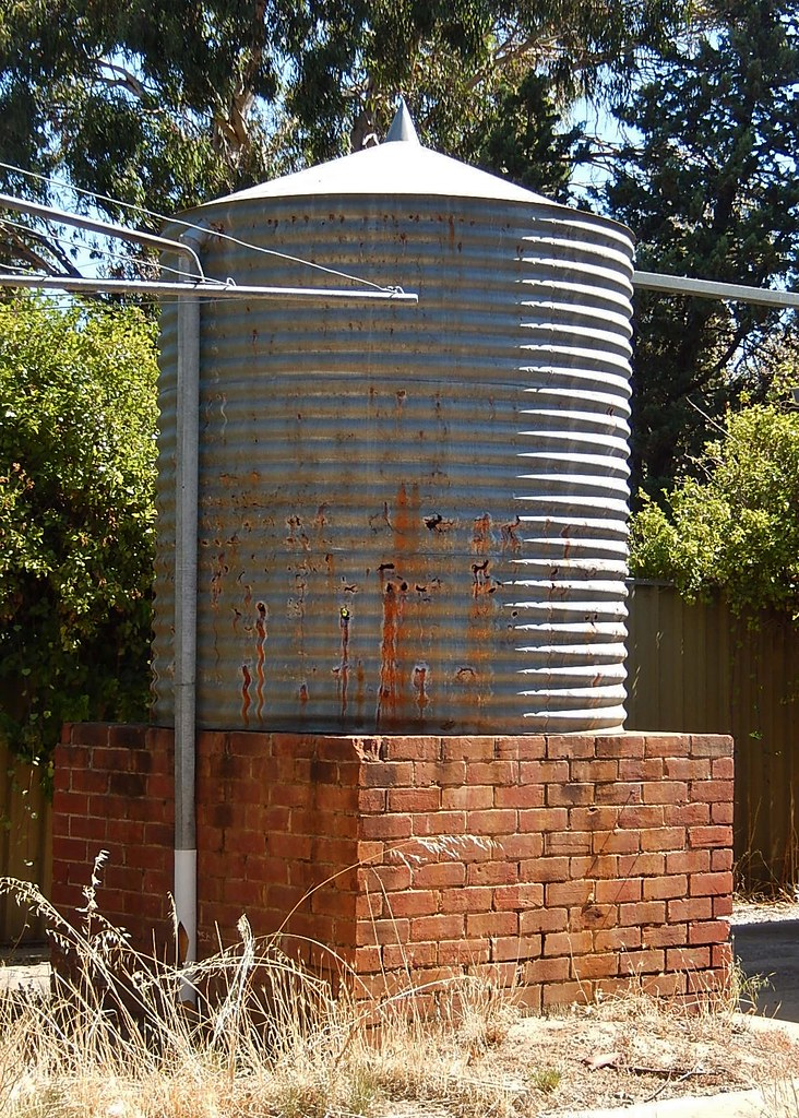 Rusty Rainwater Tank on Red Brick Stand | Michael Coghlan | Flickr