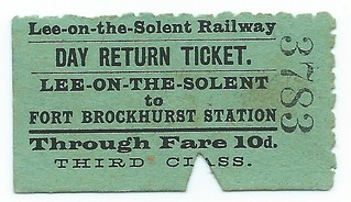 Lee on the Solent Railway undated ticket | by ian.dinmore