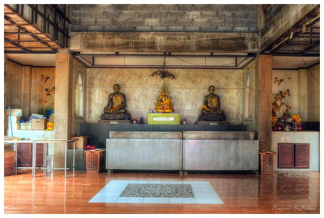 Sitting Buddha & Monks